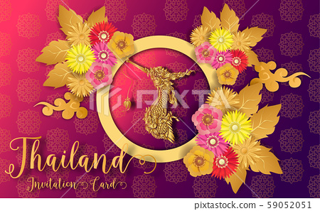 Thailand ancient Luxury concept .Thai traditional style.vector illustration for Travel in Thailand.poster,greeting card, party invitation,banner,brochure,other use 59052051
