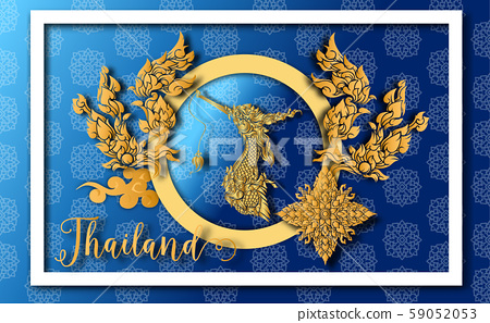 Thailand ancient Luxury concept .Thai traditional style.vector illustration for Travel in Thailand.poster,greeting card, party invitation,banner,brochure,other use 59052053