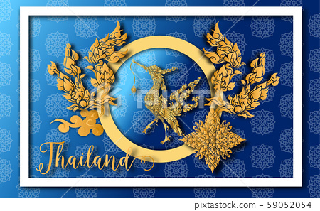 Thailand ancient Luxury concept .Thai traditional style.vector illustration for Travel in Thailand.poster,greeting card, party invitation,banner,brochure,other use 59052054