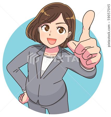 여성 강사 교사 선생님 가르치는 정장 59057045