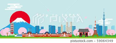 日本形象城市景觀圖 59064349