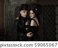 Portrait of seductive couple dressed up like 59065067