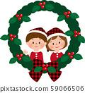 聖誕男孩和女孩花圈② 59066506