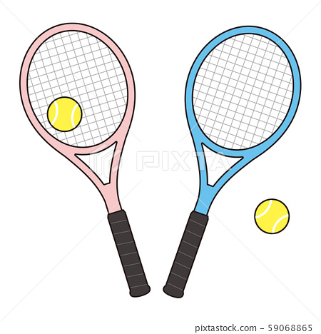 網球拍和網球設置矢量圖 59068865