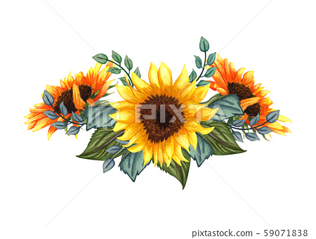 Beautiful floral collection with... - Stock Illustration [59071838 ...
