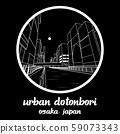 Circle icon line Urban Dotonbori. vector illustration 59073343
