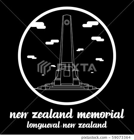 Bangkok, Thailand. 31 10 2019. Circle icon line New Zealand Memorial in  Longueval New zealand. icon vector illustration 59073364
