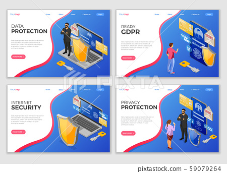 Personal Data Security Landing Page Template 59079264