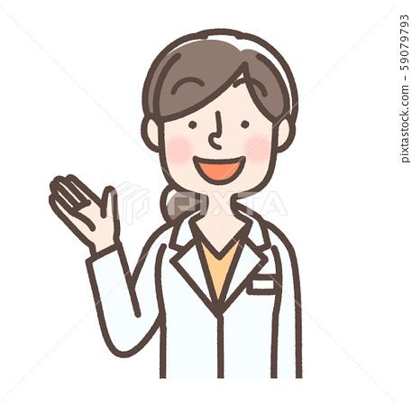 白袍女性长白袍1指导,医生,研究员,药剂师等 59079793