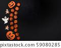 The hand-made eatable gingerbread Halloween 59080285