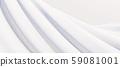 鮮豔細緻的抽象白色曲線紋理背景(高分辨率3D CG渲染∕著色插圖) 59081001