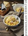 Traditional italia spaghetti carbonara 59084718