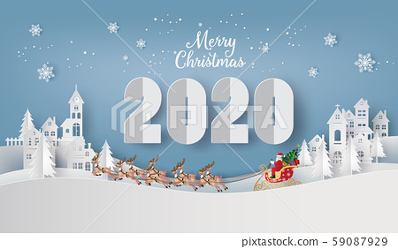 Illustration of  merry christmas and happy new 59087929
