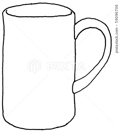 Mug [Hand drawn] [Analog illustration] [Line drawing] 59096706