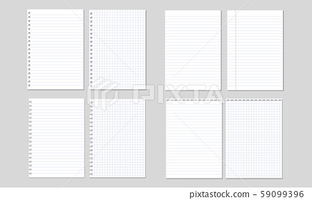 Set of vector illustrations of sheets of paper 59099396