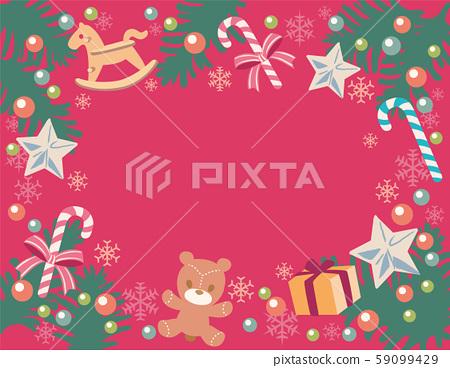 聖誕節,玩具風格背景材料。沒有主線。 59099429
