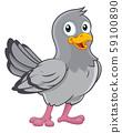 Pigeon Cute Cartoon Dove Bird 59100890