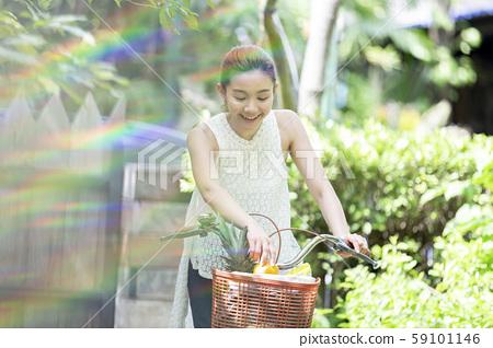 女性生活方式自行車 59101146