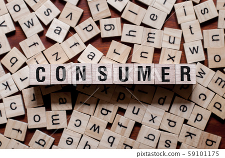Consumer word concept on cubes for articles 59101175