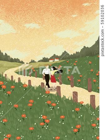 Beautiful day in the autumn season 008 59102036