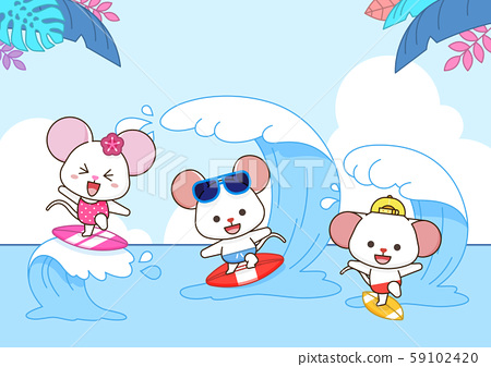 Rat is a symbol of the 2020 new year. Concept for holiday banner, card template illustration. 004 59102420