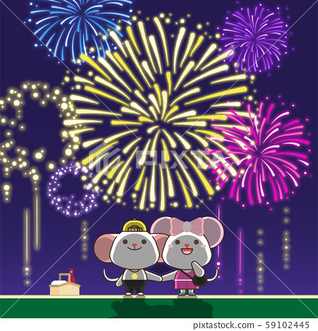 Rat is a symbol of the 2020 new year. Concept for holiday banner, card template illustration. 007 59102445