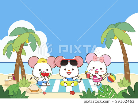 Rat is a symbol of the 2020 new year. Concept for holiday banner, card template illustration. 001 59102462