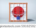 3D Render of Global trade, South Korea and Japan trade war 007 59102502