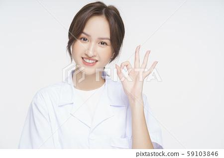 Female doctor health consultation 59103846