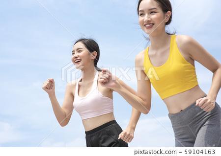 여성 스포츠 달리기 59104163