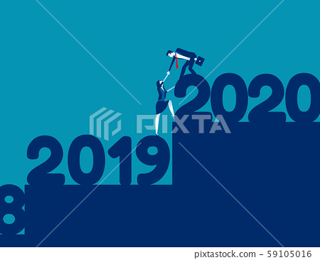 2020 Team towards the target together. 2020 Year's 59105016