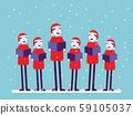 Christmas chorus. Concept Xmas celebration vector, 59105037