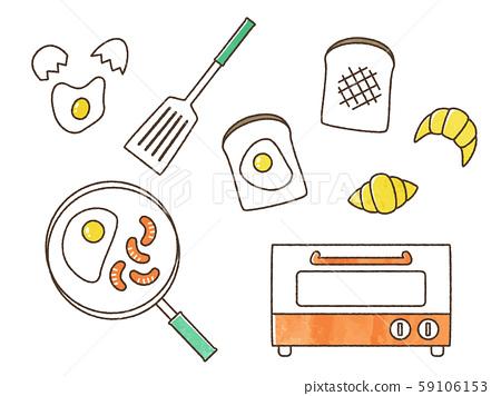아침 식사를 만드는 59106153
