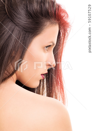 Profile of a young girl 59107529