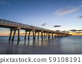 Juno Beach Pier just before sunrise 59108191