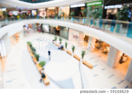 Blurred interior of luxury mall 59108629