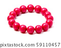 Pink plastic beaded bracelet 59110457
