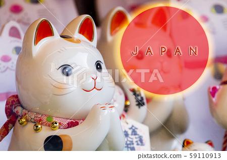 日本,招財貓,賀卡,Japan, Lucky Cat, Greeting Card, 59110913
