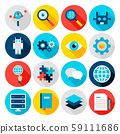 Deep Learning Flat Icons 59111686
