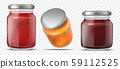 Jam jars, glass containers for fruit jelly set 59112525