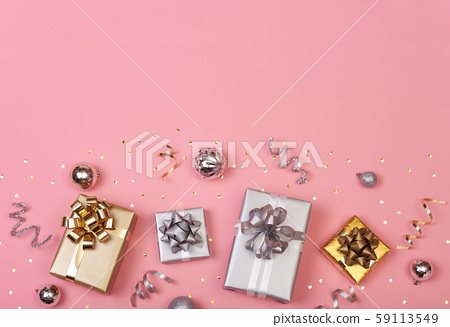 Christmas composition with decorations and gift 59113549