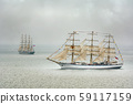 Sailing Ships in the Sea 59117159