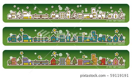 해피 조치 크리스마스 전야의 거리 변화 (녹색) 59119191