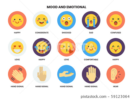 Emotional icons set for business 59123064