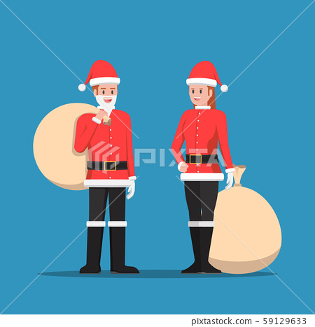 Man and woman in santa claus suit 59129633