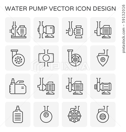 water pump icon 59132016