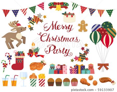 Christmas party illustration set 59133907
