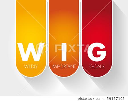 WIG - Wildly Important Goals acronym 59137103