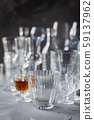 Mix of Empty table glasses 59137962