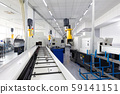an interior shot of producing line of metal parts in modern plant 59141151